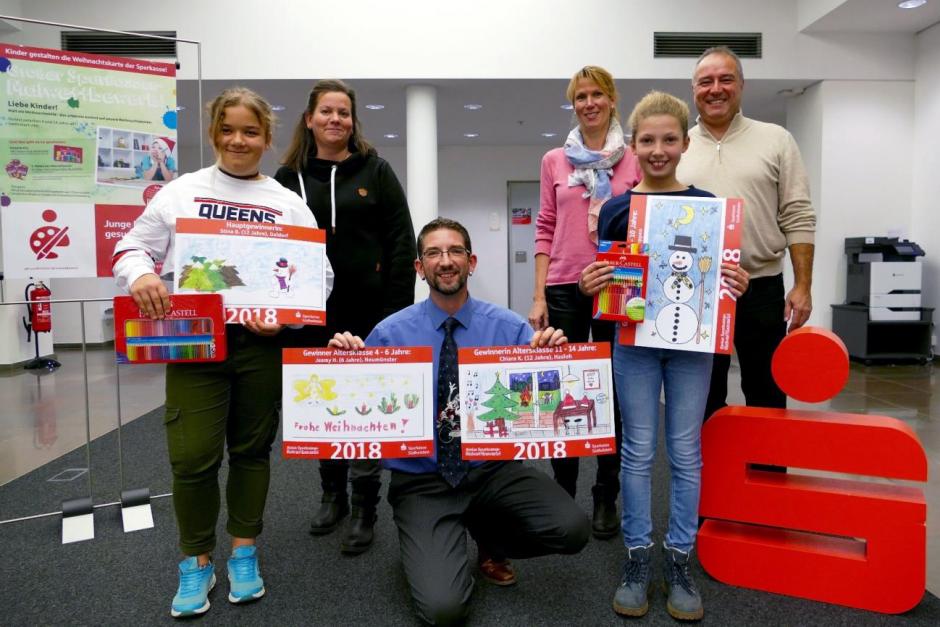 Zwölfjährige gestaltet Weihnachtskarte der Sparkasse Südholstein – Gewinner des großen Malwettbewerbs gekürt