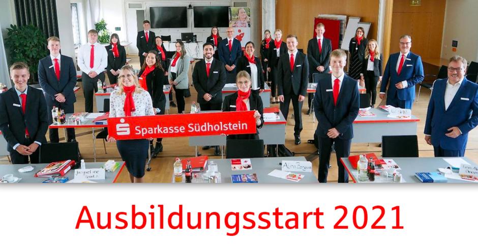 Sparkasse Südholstein begrüßt 19 neue Auszubildende – Bewerbungsphase für 2022 läuft bereits